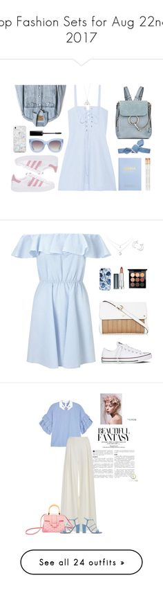 """""""Top Fashion Sets for Aug 22nd, 2017"""" by polyvore ❤ liked on Polyvore featuring Solid & Striped, adidas Originals, Chloé, kikki.K, Colette Malouf, Gap, Skinnydip, Alice + Olivia, BackToSchool and Miss Selfridge"""