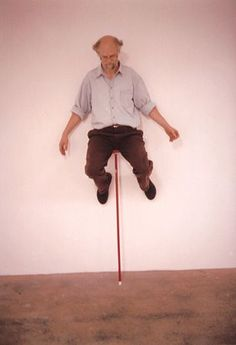 Erwin Wurm, one minute sculpture. I really love this artist!!!