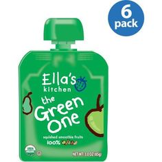 Ella's Kitchen The Green One Organic Squished Smoothie Fruits, 3 oz (Pack of 6)