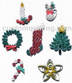 martha stewart quilled christmas cards - Google Search