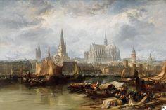 """James Webb: """"Ansicht von Köln mit dem unvollendeten Dom"""" - 1870"""