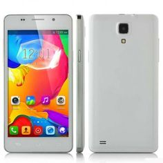 JIAKE M4 smartphone use 5.0 inch screen, installed Android 4.4 OS with MTK6572 Dual Core 1.0GHz processor, has 512MB RAM, 4GB ROM, 2MP front + 2MP rear double camera.