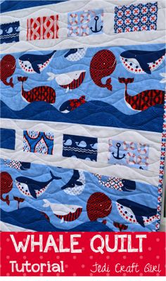 Whaley Whale Quilt Tutorial - Jedi Craft Girl