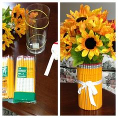 Back to school bouquet by @Cynthia Cassinelli
