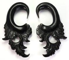 The ILK Wholesale Horn Hanger Organic Body Jewelry 12g - 00g - Price Per 1 :: Plugs Body Jewelry :: Painful Pleasures, Inc.