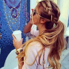 think ponytail