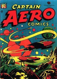 Captain Aero Comics #26 by L.B. Cole, August, 1946.