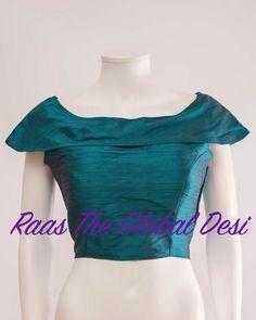 BL1330-BLOUSE-Raas The Global Desi-READYMADE_SAREE_BLOUSE]-[READYMADE_SAREE_BLOUSES]-[SAREE_BLOUSES-[DESIGNER_BLOUSE]-Raas The Global Desi Brocade Blouse Designs, Cotton Saree Blouse Designs, Stylish Blouse Design, Fancy Blouse Designs, Designer Blouse Patterns, Saree Wearing Styles, Kids Dress Wear, Lehenga Gown, Fashion Blouses