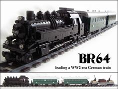 BR64 - German tank steam locomotive with WW2 era train by Piglet Ciamek on Flickr