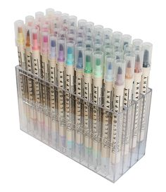 Kuretake ZIG Memory System 48 Piece Set Dual Tip Calligraphy Marker Stationary Supplies, Stationary School, Cute Stationary, School Stationery, Art Supplies, Calligraphy Markers, Learn Calligraphy, Cool School Supplies, College School Supplies