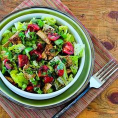 Fattoush (Lebanese Crumbled Bread Salad with Sumac and Pita Chips) Recipe - LEBANESE RECIPES