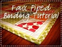 faux piped binding