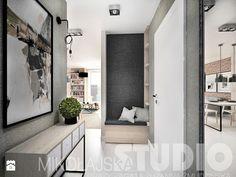 beton-drewno-cegła-korytarz - zdjęcie od MIKOŁAJSKAstudio