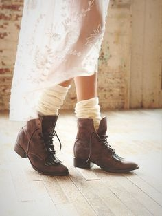 Free People FREEBIRD BRIMFIELD BOOTS $245 Ankle Lace Up Booties Fringe Shoes 7 #Freebird #Booties #Casual