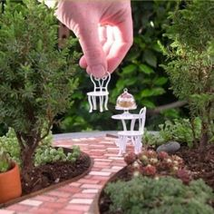 How to make a miniature garden patio from the author of Gardening in Miniature, Janit Calvo.