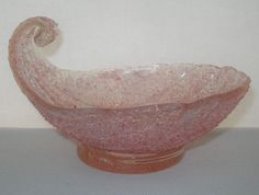 INCREDIBLE Authentic MURANO Glass BOWL Shabby Chic TEXTURAL Fratelli Toso RUSTIC