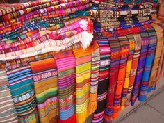 Native American fabrics by Live Simply, via Flickr