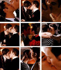 Klaine kisses <3 Klaine <3