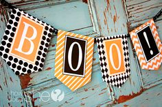 Free BOO Banner! #printables #halloween #howdoesshe