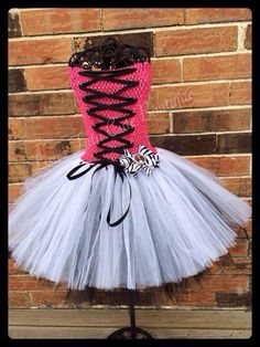 Draculaura themed tutu dress with matching bow. by LisasTutus  love it