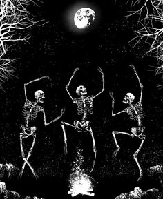 Skeleton Dance, Skeleton Art, Witches Dance, Funny Phone Wallpaper, Dark Pictures, Danse Macabre, Witch Aesthetic, Skull And Bones, Art Background