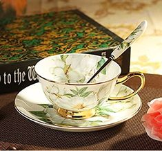 YeFine Ceramics Afternoon Tea Set Fashion Ceramic Coffee Cup Advanced Tea Mugs Bone China Cups And Saucers With Stainless Spoons Afternoon Tea Set, Coffee Cup Set, Ceramic Coffee Cups, Tea Tray, China Cups And Saucers, Bone China Tea Cups, Best Tea, Tea Accessories, Cup And Saucer Set
