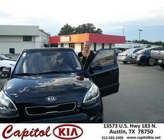Thank you to Tracy Lewis on your new 2013 Kia Soul from Belton Osborne Jr and everyone at Capitol Kia!