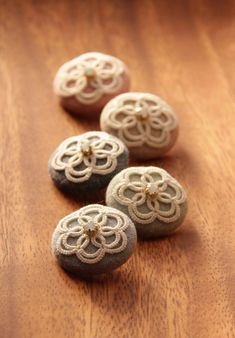 Buttons with tatting on them!
