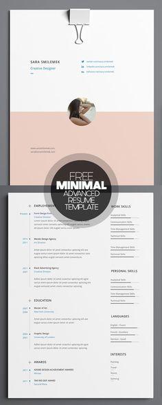 Free Minimal Advanced Resume Template
