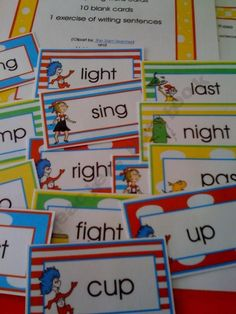 Cat in the Hat Rhyming Cards