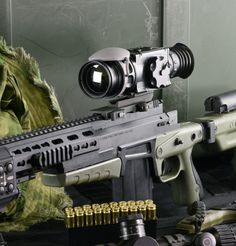 The X35 fits your rifle rail with an easy dual quick release mount interface.  #military #FLIR #thermalscopes From SPI Corp, www.x20.org
