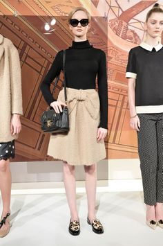 Models show looks at the Kate Spade fashion show during Mercedes-Benz Fashion Week on Feb. 2014 in New York City. Passion For Fashion, Love Fashion, Runway Fashion, High Fashion, Fashion Show, Womens Fashion, Fashion 2014, Fashion Weeks, Winter Fashion