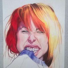 #wip #hayleywilliams #colorpencil #caricatura #kefas #paramore #desenh4ndo