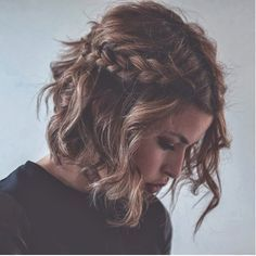 Half-up with side braid