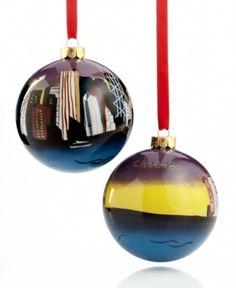 Holiday Lane Christmas Ornament, Chicago Glass Ball. Holiday Lane Christmas Ornament, Chicago Glass Ball Home - Misc Holiday Lane. Price: $6.80