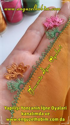Showy needlework models that love Elti Eltiye new - pregnant Dupatta Setting, Needle Lace, Embroidery Jewelry, Eminem, Tatting, Needlework, Origami, Diy And Crafts, Youtube