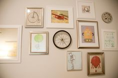 Round up your favorite prints to create a fabulous gallery wall. #wall #decor #baby #nursery