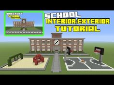 Minecraft tutorial how to make a pizza hut restaurant minecraft minecraft tutorial how to make a school interiorexterior publicscrutiny Choice Image