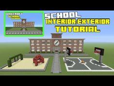 Minecraft Tutorial: How To Make A School Interior/Exterior