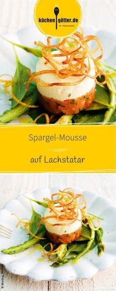 Frischer Spargel und Lachs sind eine gute Kombination! Probiert doch mal unser einfaches Rezept für unser Spargel-Mousse auf Lachtatar aus!