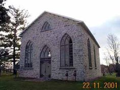 This stone church, an attractive example of an early form of Gothic Revival architecture, was constructed in 1835-36 on land obtain from John Mitchell, one of Ramsay Township's earliest settlers.  Built by the local congregation of the Established Church of Scotland it was also attended by Presbyterians from adjoining townships.