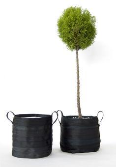 Vaso medio: cinture di sicurezza riciclate tessuto interno poliestere vaso medio