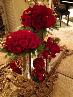 Floral arrangements for Christmas