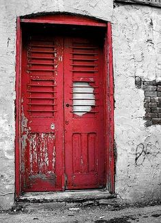 I see a red door and I want to paint it black!