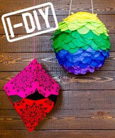 If you want to really make your Cinco de Mayo special, check out these DIY pinata crafts. Make your own pinata with this easy guide! Creative Crafts, Diy And Crafts, Crafts For Kids, Paper Crafts, Tostadas, Cinco De Mayo Specials, Paper Mache Pinata, Diy Piñata, Crafts