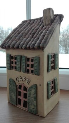 Clay Houses, Ceramic Houses, Miniature Houses, Hand Built Pottery, Slab Pottery, Ceramic Pottery, Pottery Sculpture, Sculpture Clay, Brick Crafts