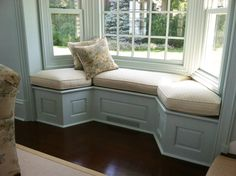 Country Window Seat Cushion Custom made window seats cushions with measure and install service available or place your order online. Tips on how to measure & more. This window seat cushions for bay wi