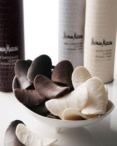 Neiman Marcus Chocolate-Coated Potato Crisps .will follow back.