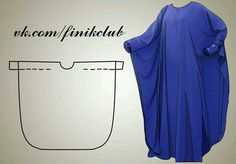 Caftan pattern (I want to make me one of these out of fleece for winter time lounging! Diy Clothing, Sewing Clothes, Clothing Patterns, Dress Patterns, Sewing Patterns, Fashion Sewing, Diy Fashion, Dyi Couture, Kaftan Pattern