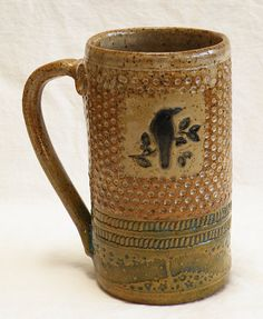 ceramic raven mug 20oz stoneware 20D006